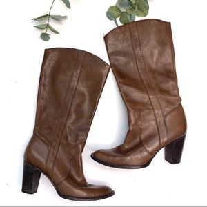 Michael Kors Brown Buttery Leather Heeled Boots